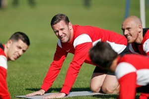 Leyton Orient Training Ground,Chigwell Essex -  Kevin Nolan training with the O's